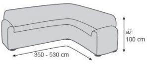Rozměry potahu na rohovou sedačku