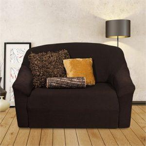 Hnědý elastický potah na sedačku / gauč