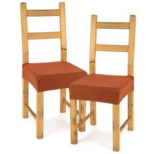 4Home Multielastický potah na sedák na židli Comfort terracotta