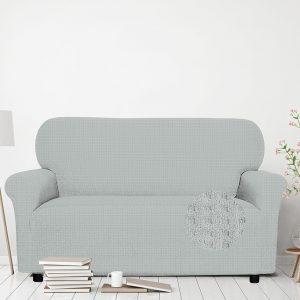 Jednobarevný bielastický povlak na pohovku  - Napínací potah